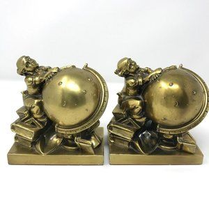 Vintage Astronomer Bookends Philadelphia Mgf Co.